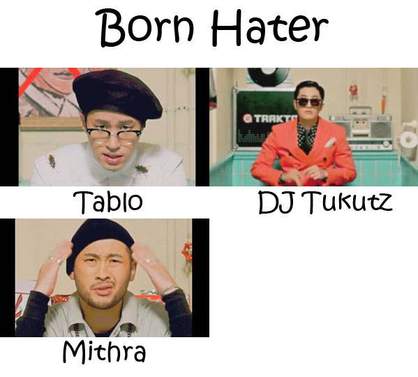 "The members of Epik High in the ""Born Hater"" MV"
