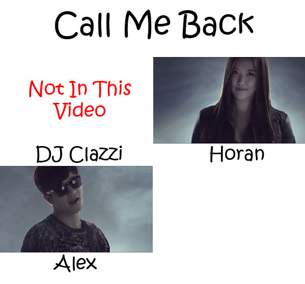 "The members of Clazziquai Project in the ""Call Me Back"" MV"