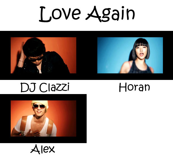 "The members of Clazziquai Project in the ""Love Again"" MV"