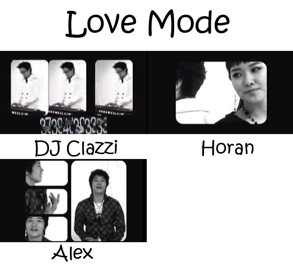 "The members of Clazziquai Project in the ""Love Mode"" MV"