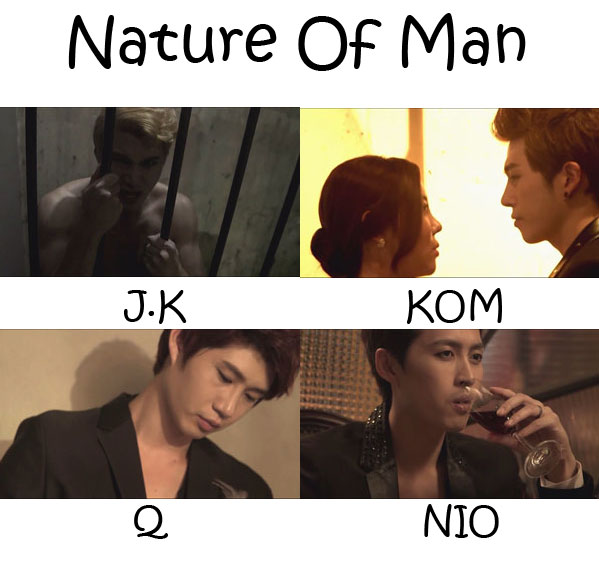 """The members of N.O.M (Nature Of Man) in the """"Nature Of Man"""" MV"""