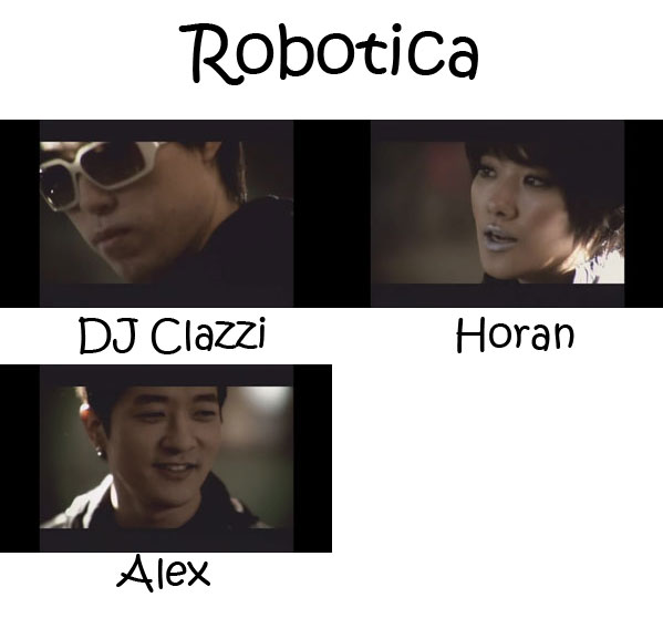"The members of Clazziquai Project in the ""Robotica"" MV"
