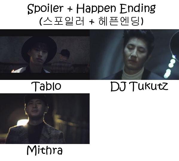 """The members of Epik High in the """"Spoiler & Happen Ending"""" MV"""