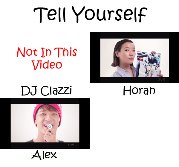 "The members of Clazziquai Project in the ""Tell Yourself"" MV"