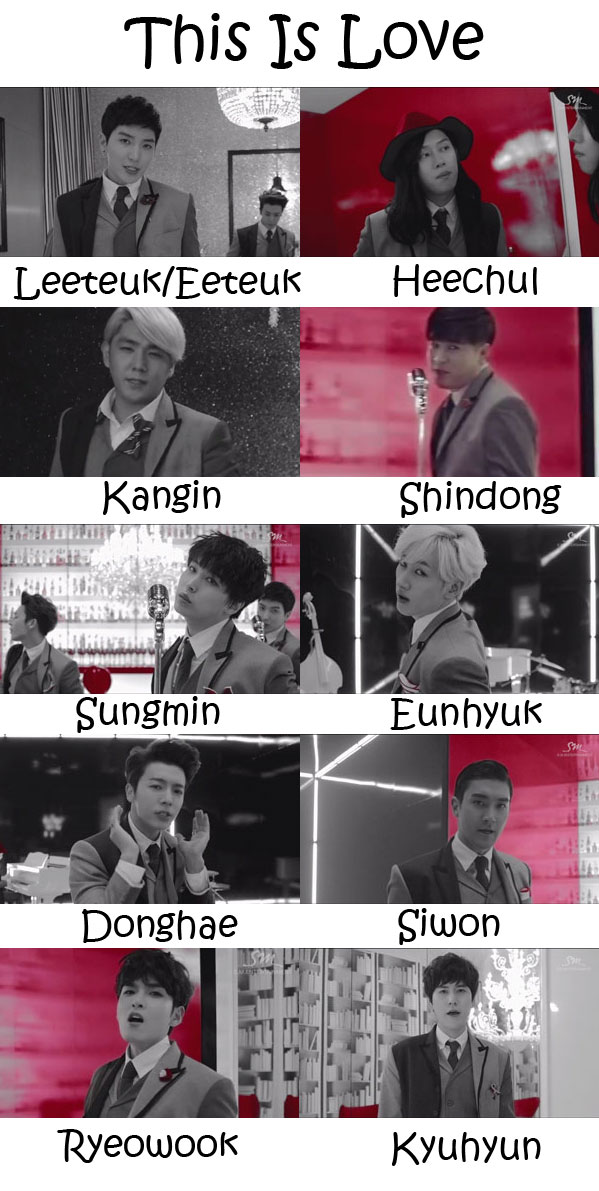"The members or Super Junior in the ""This Is Love"" MV"