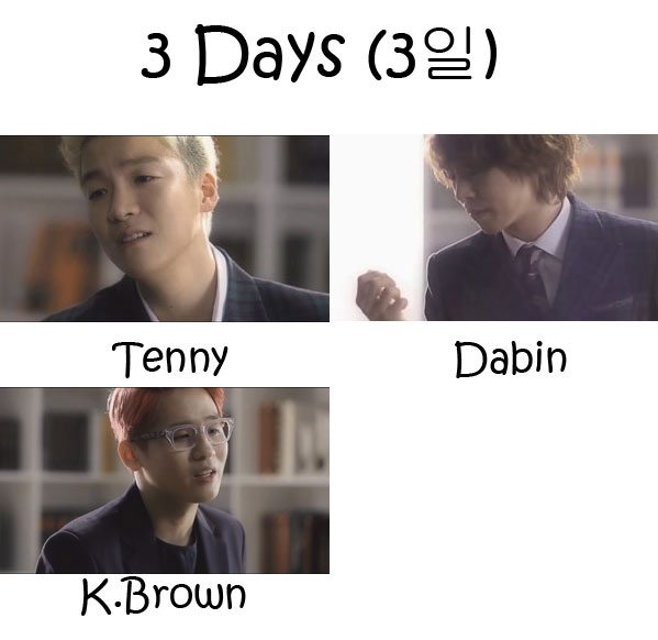"The members of Timber in the ""3 Days"" MV"