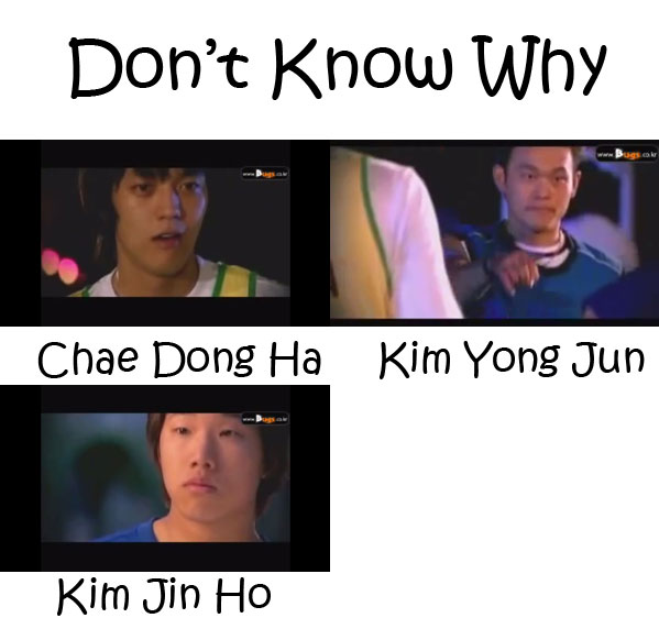 "The members of SG Wannabe in the ""Don't Know Why"" MV"