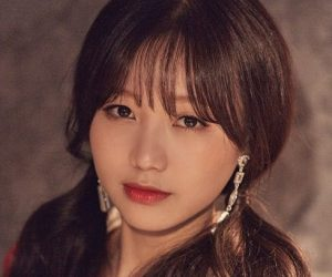 "Lovelyz's Sujeong promotional picture for ""Fall In Lovelyz"""