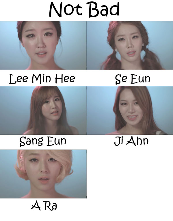 "The members of KGirls in the ""Not Bad"" MV"