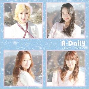 """Album art for A-Daily's album """"Snow World"""""""