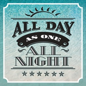 "Album art for As One's album ""All Day All Night"""
