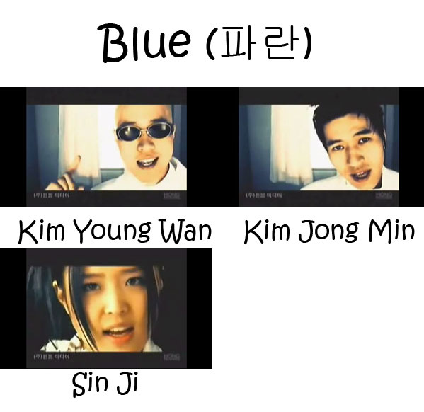 "The members of Koyote in the ""Blue"" MV"