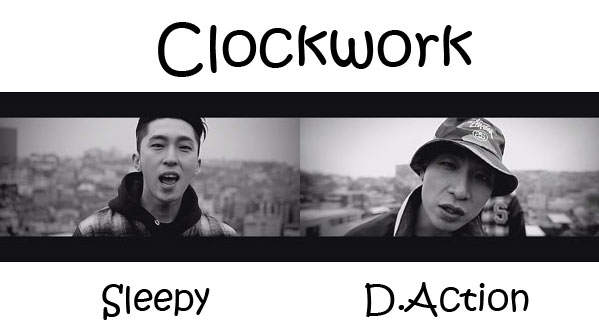 "The members of Untouchable in the ""Clockwork"" MV"