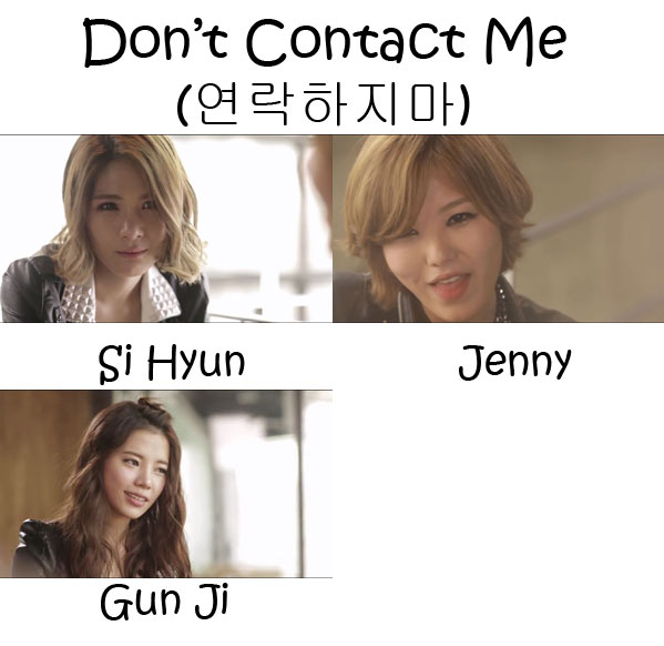 "The members of Gavy NJ in the ""Don't Contact Me"" MV"