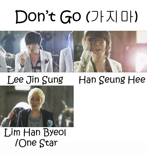 "The members of Monday Kiz in the ""Don't Go"" MV"