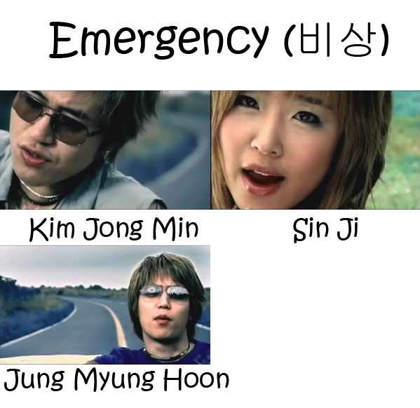 "The members of Koyote in the ""Emergency"" MV"