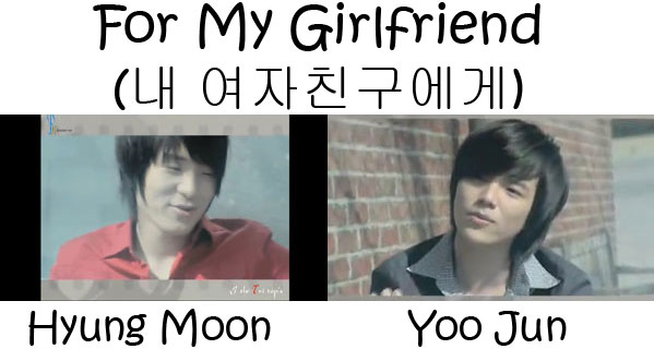 "The members of Tritops in the ""For My Girlfriend"" MV"