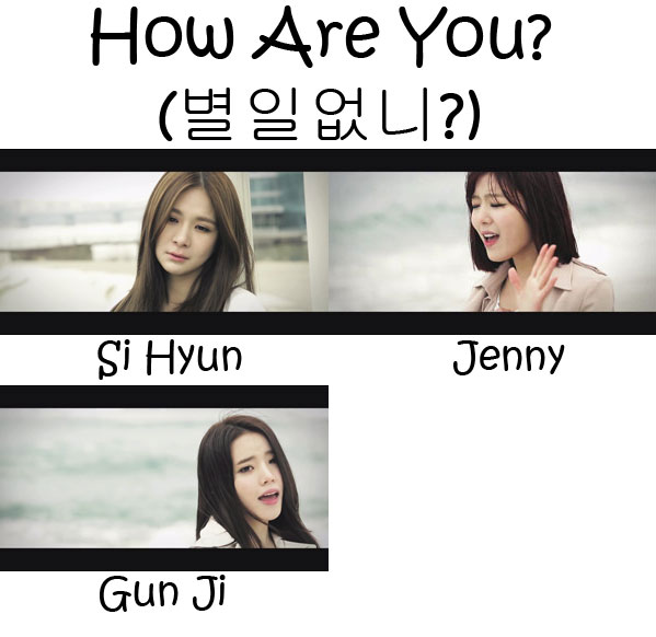 "The members of Gavy NJ in the ""How Are You?"" MV"