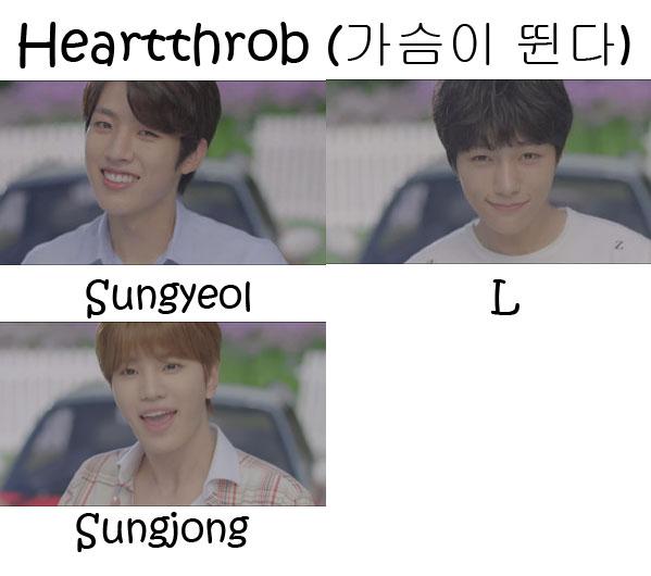 "The members of Infinite F in the ""Heartthrob"" MV"