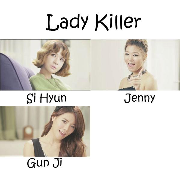 """The members of Gavy NJ in the """"Lady Killer"""" MV"""