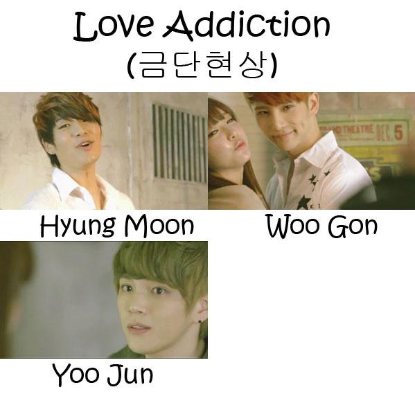 """The membrs of Tritops in the """"Love Addiction"""" MV"""
