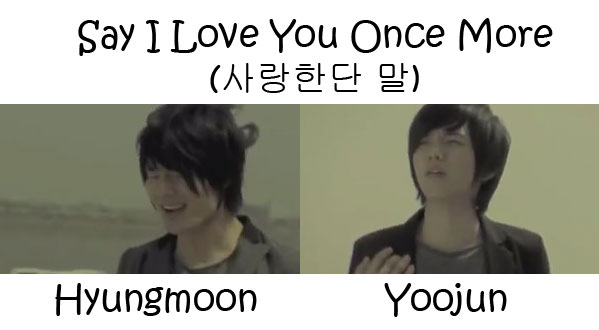 "The members of ""Say I Love You Once More"" MV"