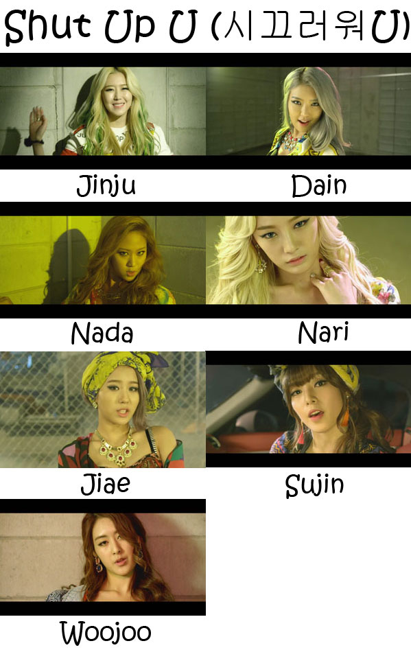 "The members of WA$$UP in the ""Shut Up U"" MV"