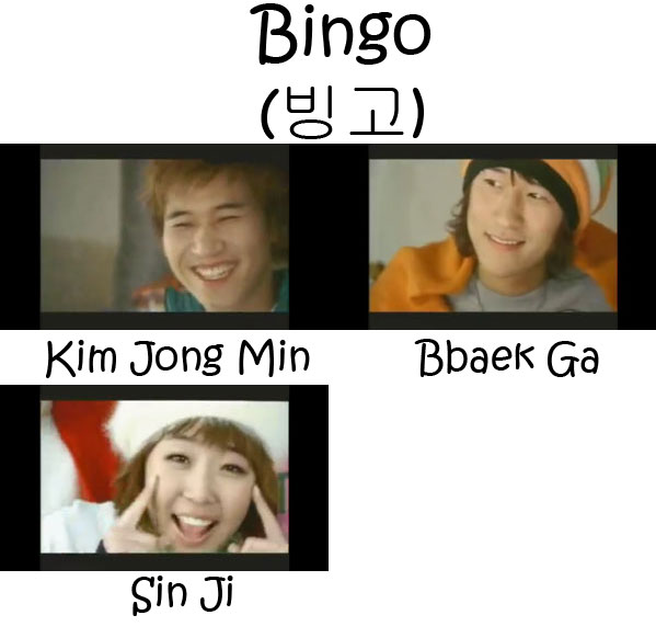 "The members of Koyote in the ""Bingo"" MV"