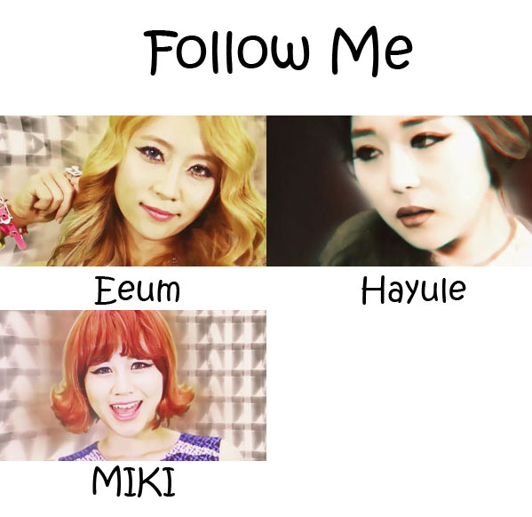 "The members of ODD EYE in the ""Follow Me"" MV"
