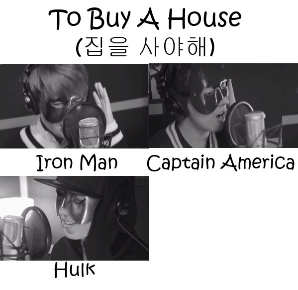"The members of Mio in the ""To Buy A House"" MV"