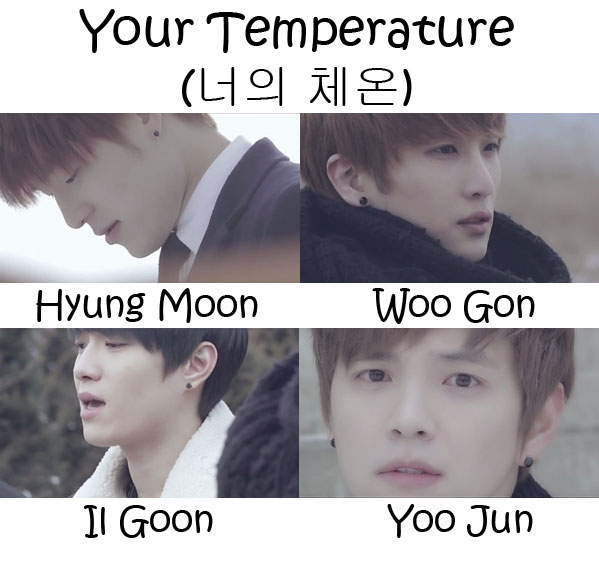 "The members of Tritops in the ""Your Temperature"" MV"