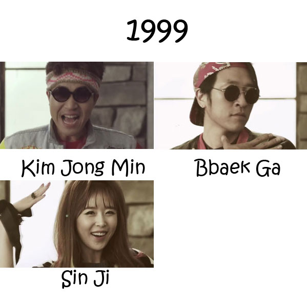 "The members of Koyote in the ""1999"" MV"