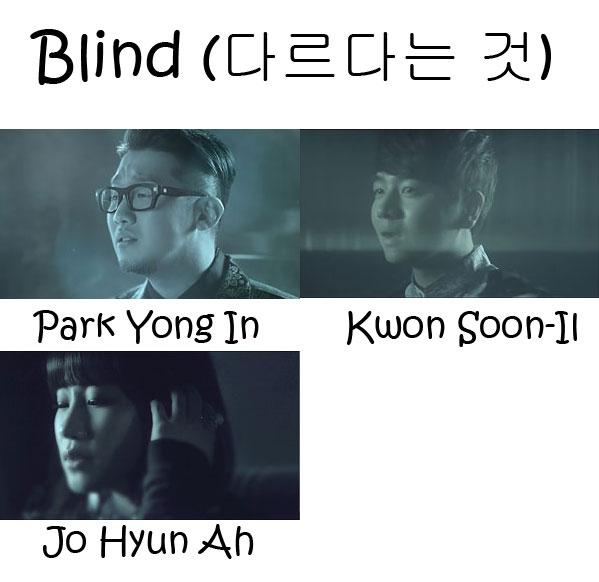 "The members of Urban Zakapa in the ""Blind"" MV"