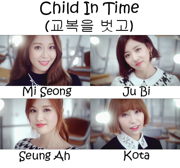"The members of Sunny Hill in the ""Child In Time"" MV"