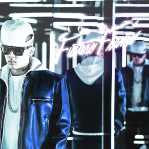 "Album art for Dok2 / Gonzo's album ""Future Flame"""