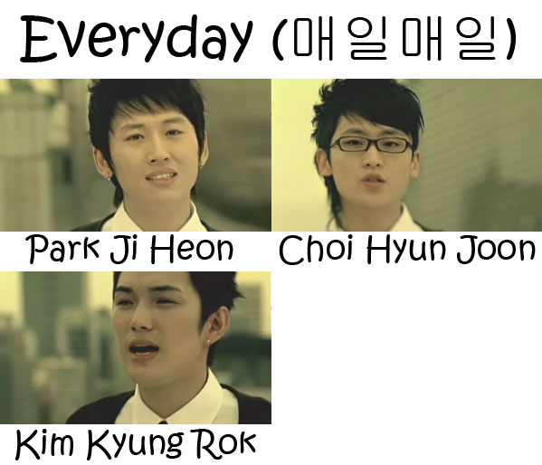 "The members of V.O.S in the ""Everyday"" MV"