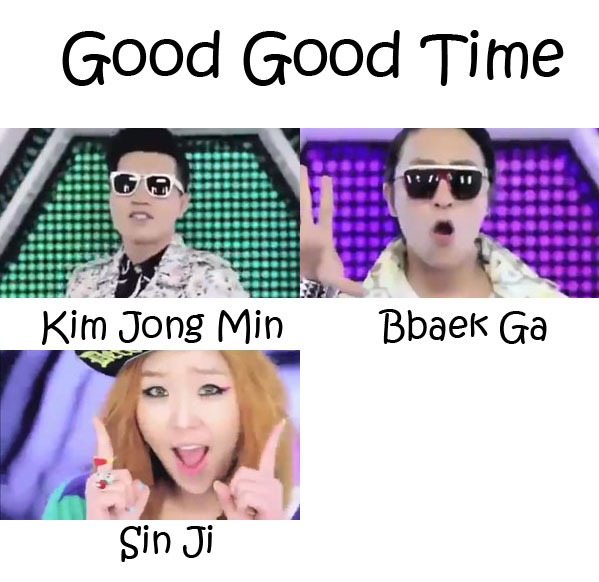 """The members of Koyote in the """"Good Good Time"""""""