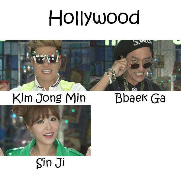 """The members of Koyote in the """"Hollywood"""" MV"""