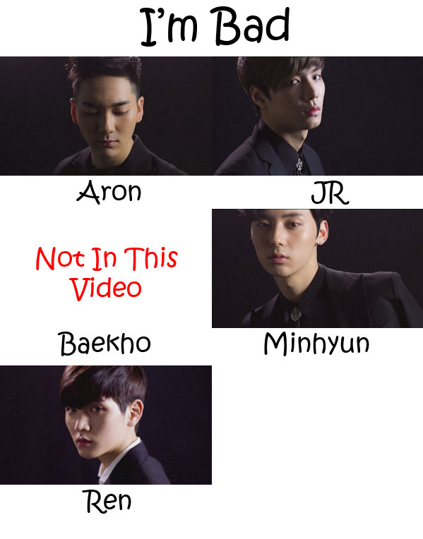 "The members of NU'EST in the ""I'm Bad"" MV"
