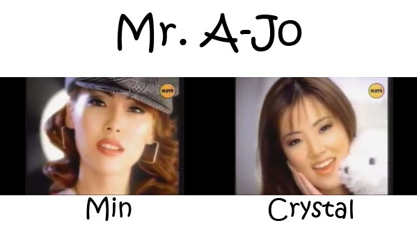 "The members of As One in the ""Mr. A-Jo"" MV"