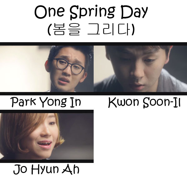 "The members of Urban Zakapa in the ""One Spring Day"" MV"