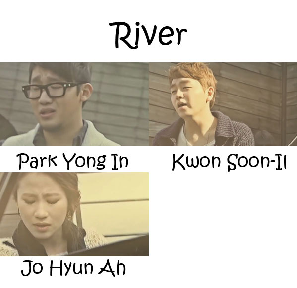 "The members of Urban Zakapa in the ""River"" MV"