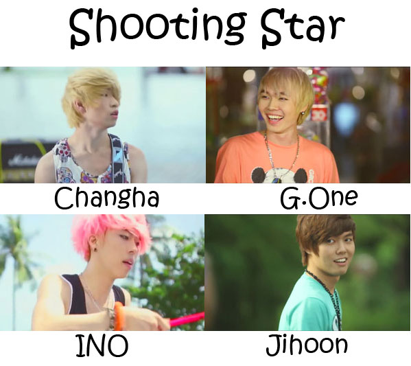 "The members of Nevermind in the ""Shooting Star"" MV"