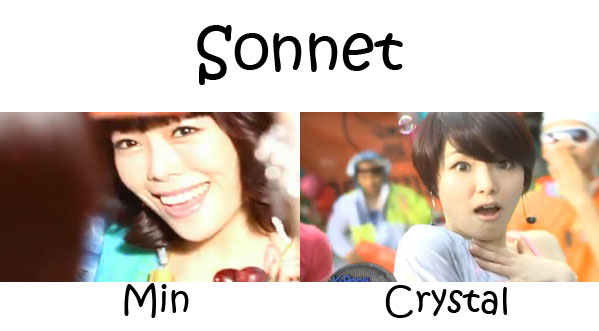 "The members of As One in the ""Sonnet"" MV"
