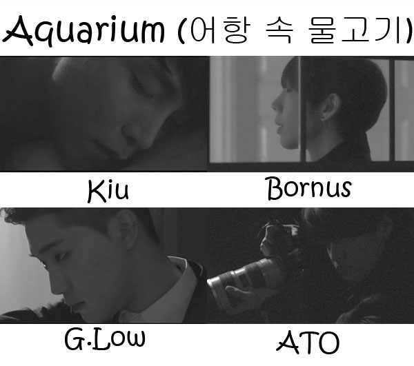 "The members of K-Much in the ""Aquarium"" MV"