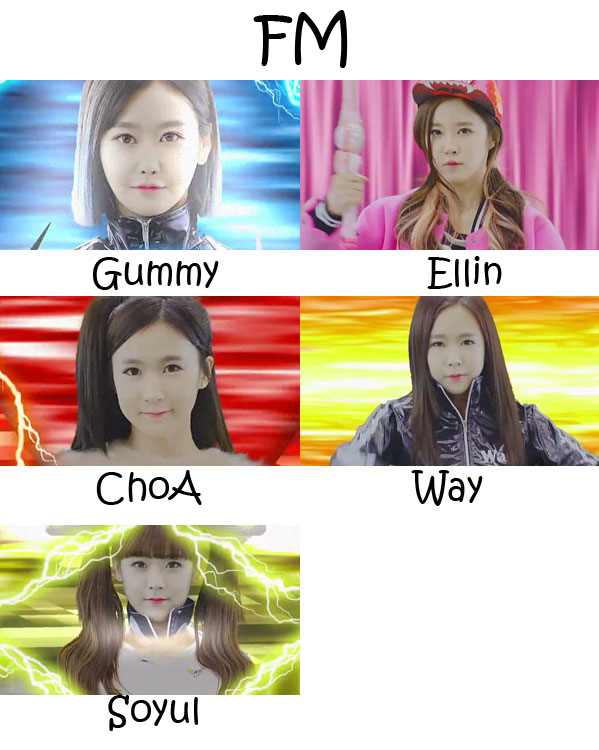 "The members of Crayon Pop in the ""FM"" MV"