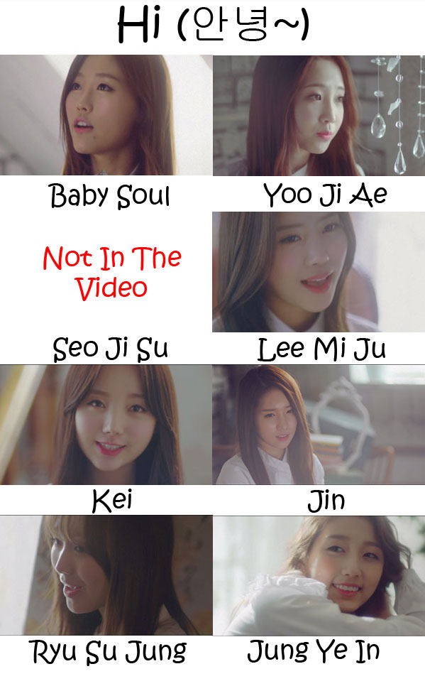 "The members of Lovelyz in the ""Hi"" MV"