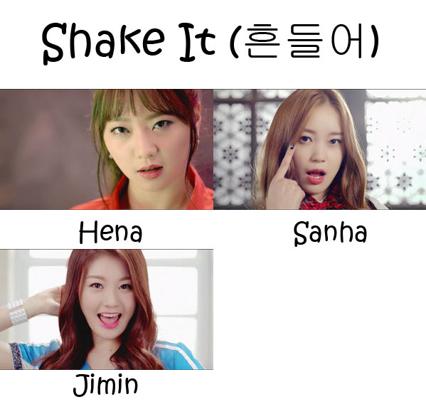 "The members of SUS4 in the ""Shake It"" MV"