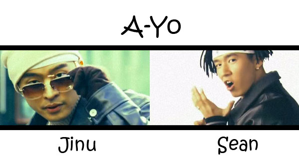 "The members of Jinusean in the ""A-Yo"" MV"