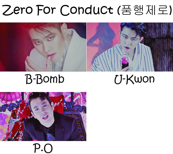 "The members of BASTARZ (Block B) in the ""Zero For Conduct"" MV"